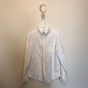 Rhythm White Button Down Shirt Size Medium